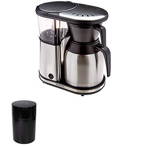8-cup Coffee Brewer and 1lb Vacuum-Seatled Coffee Container bundle