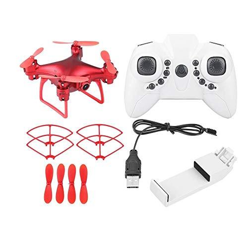 Telecomando Drone Wifi FPV telecamera pressione d'aria Altitudine attesa RC Quadcopter (2MP, Rosso)
