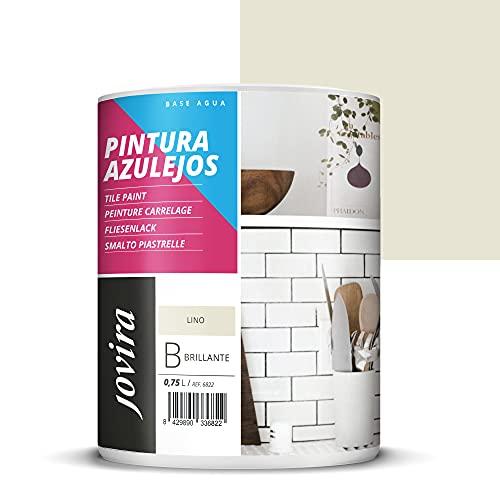 PINTURA PARA AZULEJOS AL AGUA Da una imagen nueva a tu cocina y baño. (750 ml, LINO)