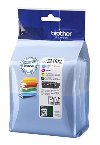 Brother LC3219XLVAL Juego de 4 cartuchos (Negro, Cian, Magenta y amarillo) para las impresoras MFCJ5330DW, MFCJ5730DW, MFCJ5930DW, MFCJ6530DW, MFCJ6930DW y MFCJ6935DW