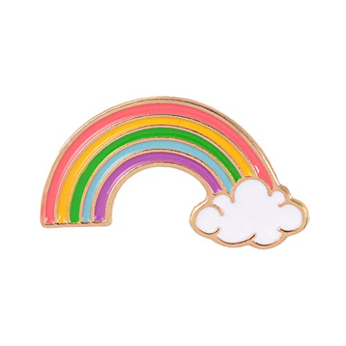 follwer0 Broche para mujer, diseño de arcoíris, esmaltado, colorido, pin, jerséis, bufandas, clips para mochilas, ropa, bolsos, chaquetas y sombreros