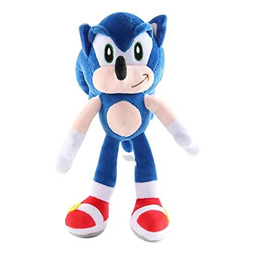 BESTZY Sonic The Hedgehog Muñeco de Peluche Juguetes, Muñeco de Peluche Muñeco de Juguetes Muñeca de Felpa Animados Muñeco de Peluche para Regalo de Cumpleaños de Los Niños