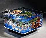 Skrootz Fish Tank Coffee Table Aquariums 25 Gallon Square Shape with Plug-in Power Source