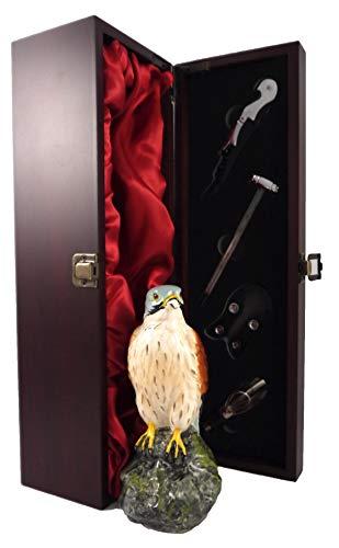 Whyte & Mackay Kestrel Whisky Decanter en una caja de regalo forrada de seda con cuatro accesorios de vino, 1 x 700ml