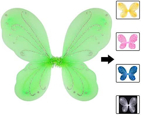 Butterfly Fairy Wings Dress Up Wings Birthday Party Favors Costume Angel Wings for Kids Green product image