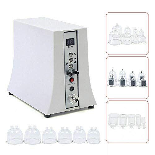 Breast Enlargement Vacuum Therapy Body Massager Machine 35 Cups Suction Pump Skin Lifting Treatment Massager Beauty Breastfeeding Device Vibrating Tools Salon Spa Effectively Body Sculpting US Stock
