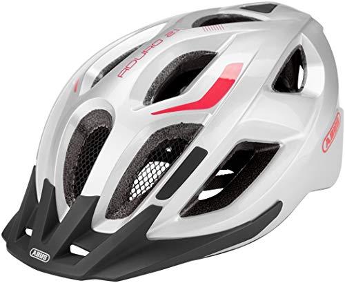 ABUS Unisex-Erwachsene ADURO 2.1 Road Helm, gleam silver, S