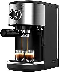 Bonsenkitchen Cafetera Espresso, Máquina de Café Espresso de Acero Inoxidable, Presión 15 Bares, 1450 W, Manual Cafetera Profesional para Espresso y Capuccino (CM8902, 1.25L)