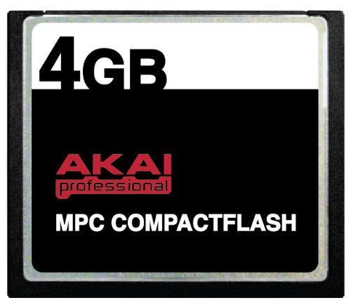 4 GB Akai MPC CompactFlash CF Memory Card for Drum Machines, Keyboards, Synth Workstations Digital Audio Recording Device, MPC500, MPC1000, MPC2500, MPC4000