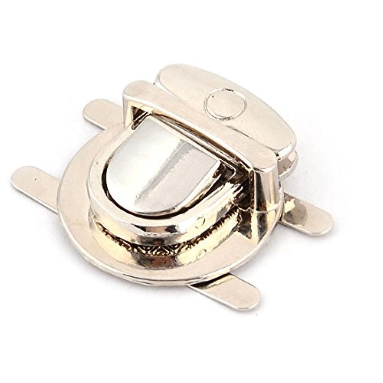 六月それる召喚するDealMuxメタル円形のハンドバッグ衣料アクセサリーリムーバブルロックシルバートーン