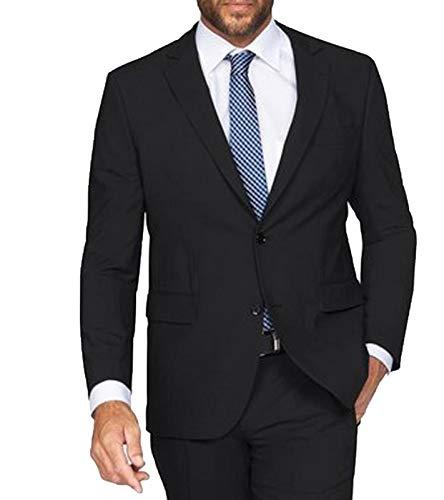 Class International Anzug-Jacke edles Baukasten-Sakko für Herren in verschiedenen Größen Jackett Blazer Schwarz, Größe:70