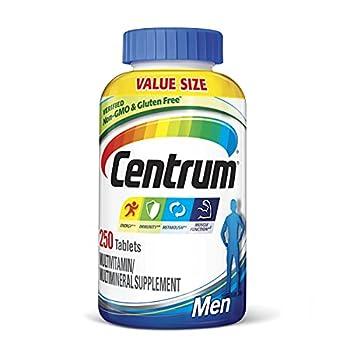 Centrum Multivitamin for Men Multivitamin/Multimineral Supplement with Vitamin D3 B Vitamins and Antioxidants - 250 Count