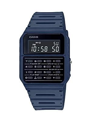 Casio Data Bank Quartz Watch with Resin Strap, Blue, 24.1 (Model: CA-53WF-2BCF) by CASIO