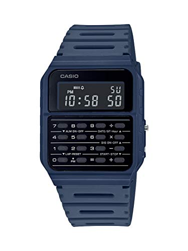 Casio Data Bank Quartz Watch with Resin Strap, Blue, 24.1 (Model: CA-53WF-2BCF)