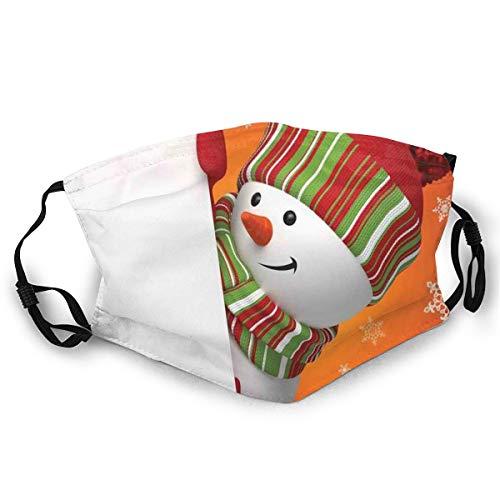 Gezichtsmasker, schattig snowman met midden en manchet en scharnier New Year Celebration Festive Design Safety Mouth Cover voor volwassenen