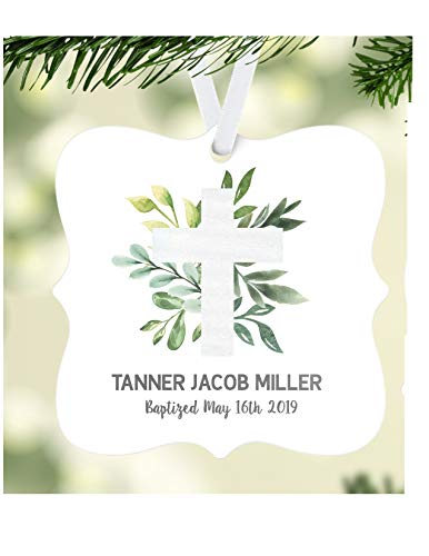 Baptism Gift Baptism Ornament Personalized Baptism Ornament 1st Communion Gift Confirmation Gift Boys Baptism Gift Personalized Ornament
