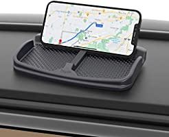 bomeizhixing Dash Mat Car Phone Holder Stand Mount Anti-skidding Mobile Dashboard Cradle for Smart Phone, Coins,...