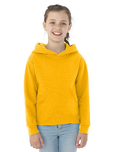 Jerzees Youth NuBlend Hooded Pullover Sweatshirt, Gold, Large