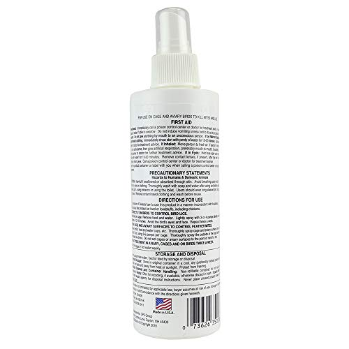 Miracle Care by Miraclecorp/Gimborn 8-Ounce Scalex Mite Lice Spray for Birds