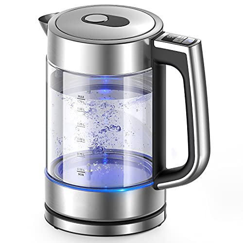 Elemore Home 1.7L Glass water Kettle , 6 Brewing Temperature Control...