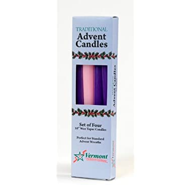 Christmas Advent Candle Set (Set of 4) - Made in the U.S.A.