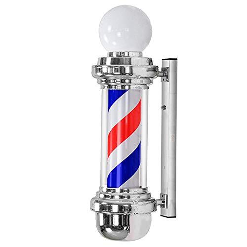 AGWa 68Cm / 26.7 'Le salon de coiffure à LED classique allume des symboles charmants en fleurs à rayures noires et blanches, le support mural s'allume, le logo du magasin de salon de coiffure, imperm