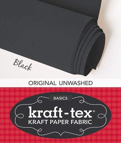 kraft-tex (TM) Basics Roll, Black: Kraft Paper Fabric