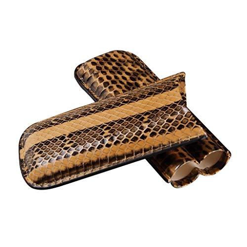 CLJ-LJ Humidor tiene capacidad for 3 cigarros portátil de viaje de piel de cigarros bolsa de cigarro de la calidad Conjunto caso de cigarrillos Hombres de Creative compacta caja de regalo ble for el c