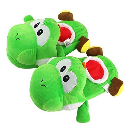 GHJU Sonic Super Mario Plüschpantoffeln Super Mario Bros Serie Yoshi Yoshi Mit Apfel Plüschtier Dragon Yoshi Indoor Warme Hausschuhe Weihnachtsgeburtstagsgeschenk Qingqiao