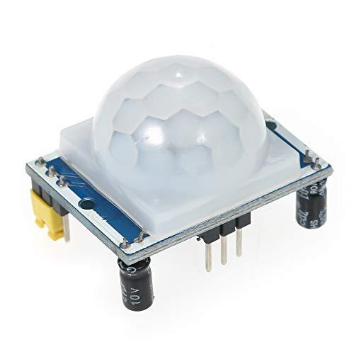 Festnight HC-SR501 Sensor infrarrojo PIR Ajuste infrarrojo piroeléctrico PIR Sensor sensor de movimiento Módulo Cuerpo Módulo de movimiento para Arduino para frambuesa pi