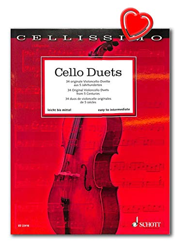 Cello Duets - 34 originale Violoncello-Duette aus 5 Jahrhunderten - Reihe: Cellissimo - Schott Music ED22416 9783795711528
