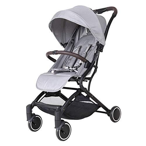 KHUY kinderwagen, compact, licht, draagbaar, vliegtuig, reizen, buggy, kinderwagen, buggy, paraplu voor 6, 9, 12 maanden, baby's, peuters, jongens en meisjes