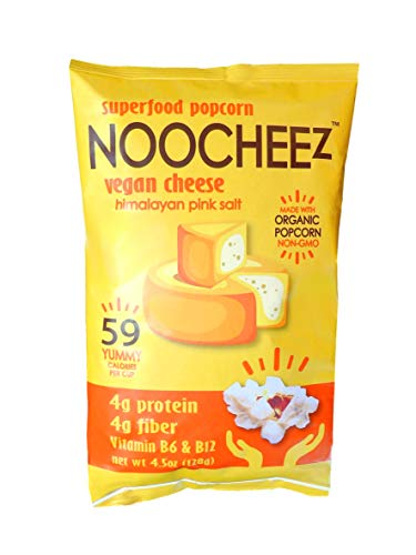 NOOCHEEz Superfood Popcorn - Vegan Cheese - 6 Pack