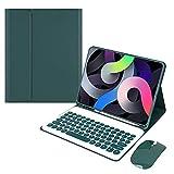 YIU Étui pour iPad Air3 10,5/Pro 10,5' – Porte-stylo intégré, clavier Bluetooth sans fil...