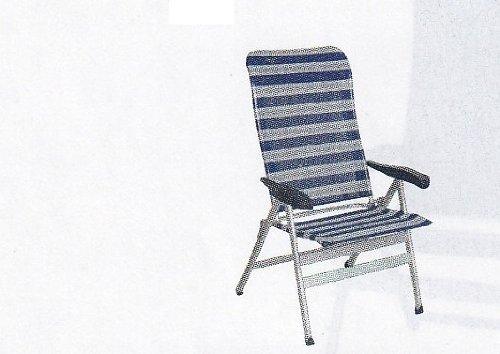 Lot de 2–xXL-chaise camping-sUPER-sTABIELO eXRA large-charge maximale : 200 kg-avec 6 positions réglables - 81 cm-dossier haut ergonomique accoudoirs dos-châssis en dURALUMINIUM-raccord ovale léger 5,25 kg-couleur-bleu/gris-charge maximale : 200 kg-hOLLY sunshade contre supplément disponible avec hOLLY fÄCHERSCHIRMEN-hOLLY ® produits sTABIELO-innovation fabriqué en allemagne
