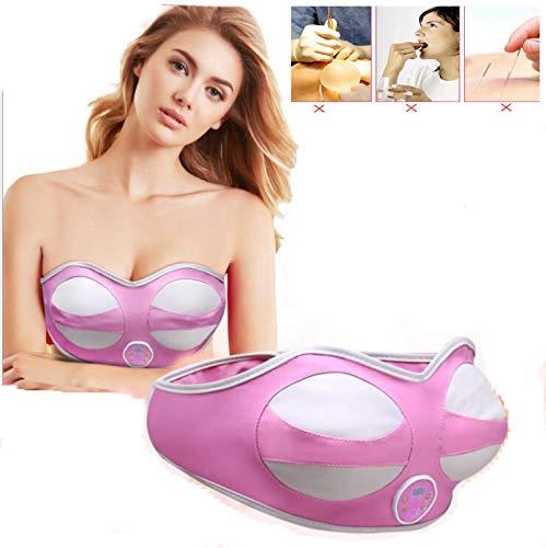 SPXW Elektrischer Brustmassagegerät-Heizungs-Kasten-Massage-BH Brustmassage Fördert Die Durchblutung,Schnelle Brustvergrößerung (L)