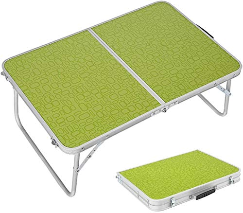 HZWLF Folding Table Portable Camping Table Lightweight Foldable Table,Outdoor Picnic Camping Beach Dining Use Low Portable Table,Aluminum,60X40X25Cm