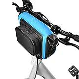 ZYLBL Bolsa para manillar de bicicleta, impermeable, bolsa de almacenamiento para manillar de bicicleta, con correa de hombro desmontable, kit de herramientas (azul)