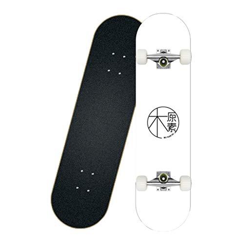 Fahooj Skateboard 31x8 Zoll Komplette Skate Board für Jugendliche Erwachsene, 7-Lagiger Kanadischer Ahorn Double Kick Deck Concave,Hochgeschwindigkeits-ABEC-7-Lager. (K)
