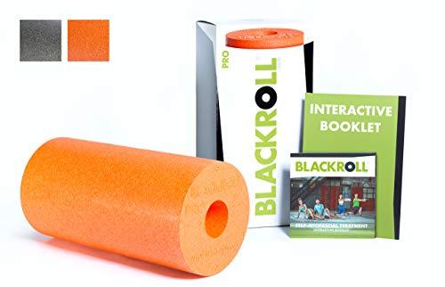 BLACKROLL PRO Faszienrolle - das Original (Härtegrad hart) - Die Profi-Selbstmassage-Rolle für die Faszien in verschiedenen Farben + Booklet
