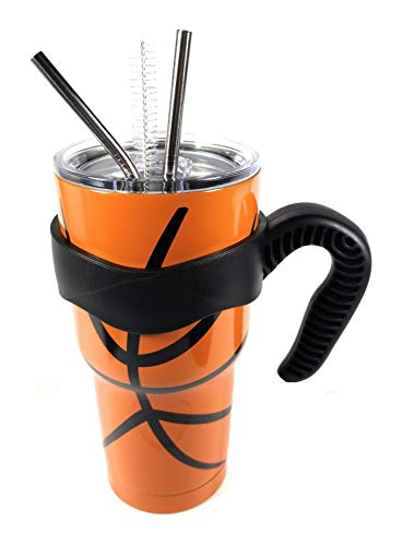 30oz Stainless Basketball Tumbler Cup Vacuum Insulated Coffee Double...