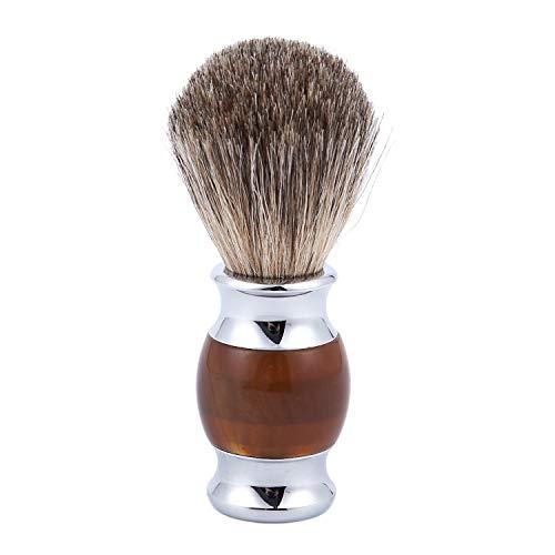 TOOGOO(R) Blaireau de rasage brosse salon hommes poils de coiffure professionnels barbe visage appareils de nettoyage outil