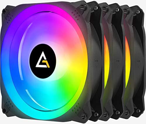 Antec Prizm X 120 mm ARGB Ventiladores, 120 Cajas, Ventiladores RGB Direccionables, Prizm Series 3 Paquetes