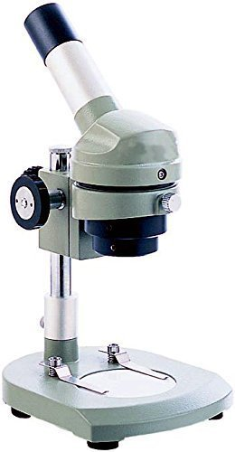 Vision Scientific VME0003 All Purpose Dissecting Microscope, WF 10X Eyepiece, 20X Magnification, Monocular, 45° Inclined, 360° Rotatable Head, 2X Objective