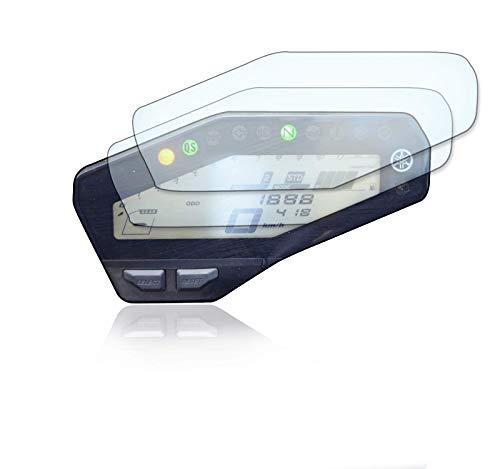 [2 unidades] Protector de pantalla para velocímetro adecuado para Yamaha MT-09 / FZ-09 cristal blindado