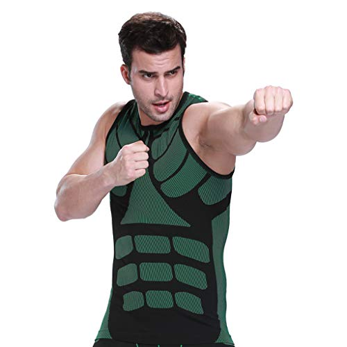 Kariwell Muscle Men Fitness Vest - Body-Buildings and Clothes Mans Body-Shaping Tied Waist Corsets Shaping Tops Kari-23
