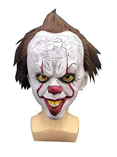 thematys® ES Clown Pennywise Horror Maske IT Neuverfilmung - perfekt für Fasching, Karneval & Halloween - Kostüm für Erwachsene - Latex, Unisex Einheitsgröße