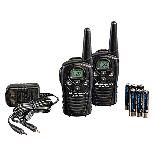Midland - LXT118VP, FRS Walkie Talkies - Extended Range Two Way Radios, Hands-Free VOX, Batteries Included (Pair Pack) (Black). Buy it now for 29.99