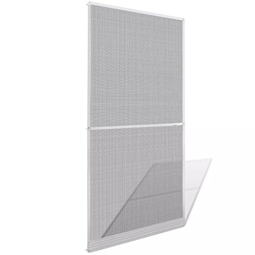 mewmewcat Mosquitera para Puertas Abatibles Blanca 100 x 215 cm