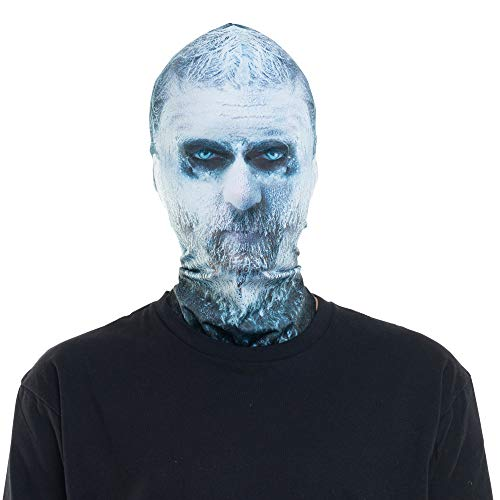 Faux Real Unisex-Adult's Halloween 3D Photo-Realistic Full Fabric Mask, Frozen Face, One Size Fits Most